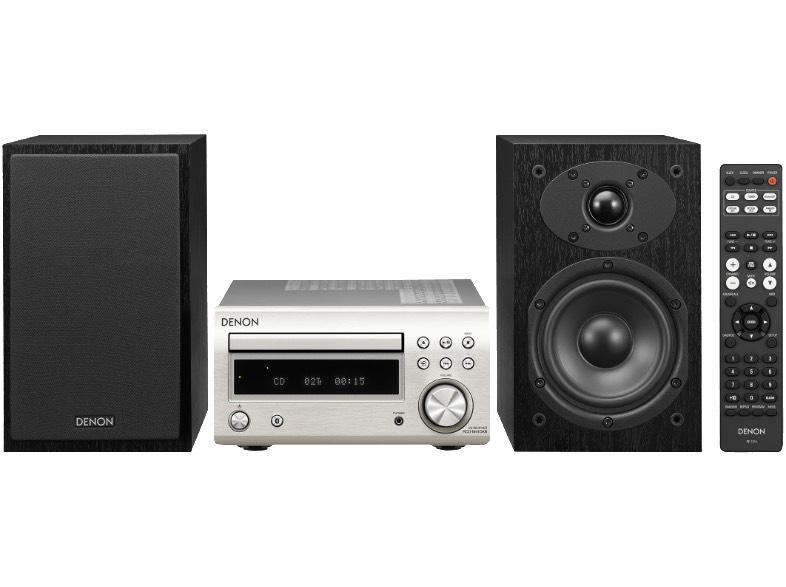 Denon D-M41DAB silber/schwarz HiFi-System mit CD und Bluetooth