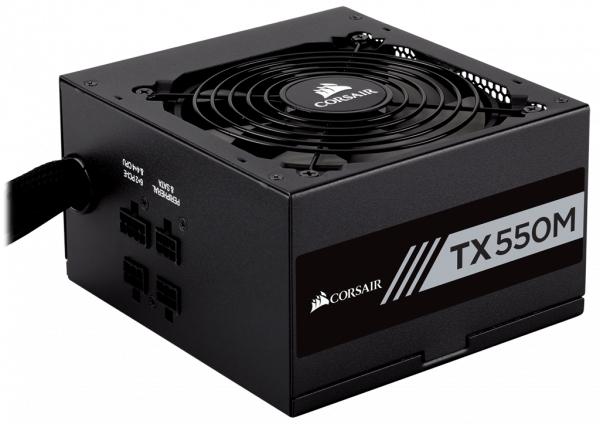 Corsair TX550M 550 Watt Netzteil Modular Kabelmanagement, 80 Plus Gold