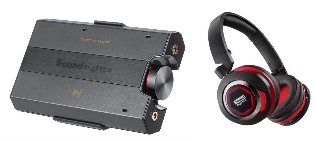 [AMAZON PROMOTION] Mobiler Verstärker CREATIVE Sound Blaster E5 + Headset CREATIVE Sound Blaster Evo für 100,39 EUR