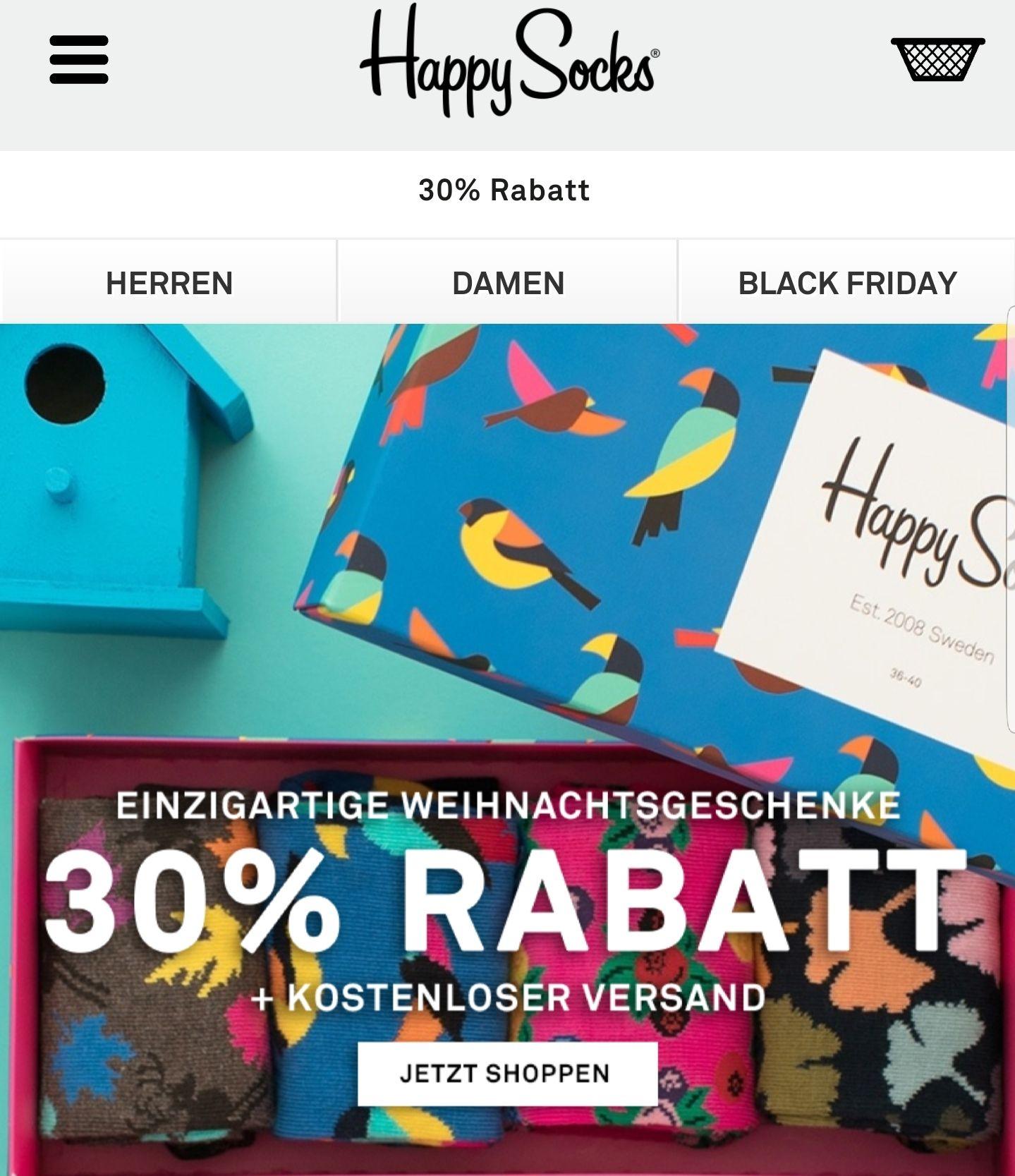 HAPPY SOCKS bis 40% Rabatt