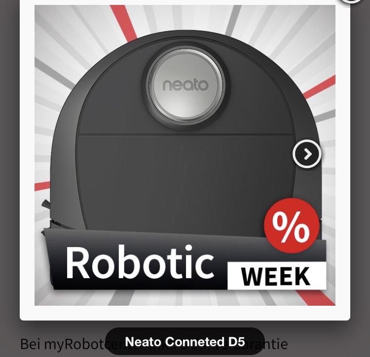 Neato Botvac Connected D5 Saugroboter - mit Gratis 5 Jahresgarantie