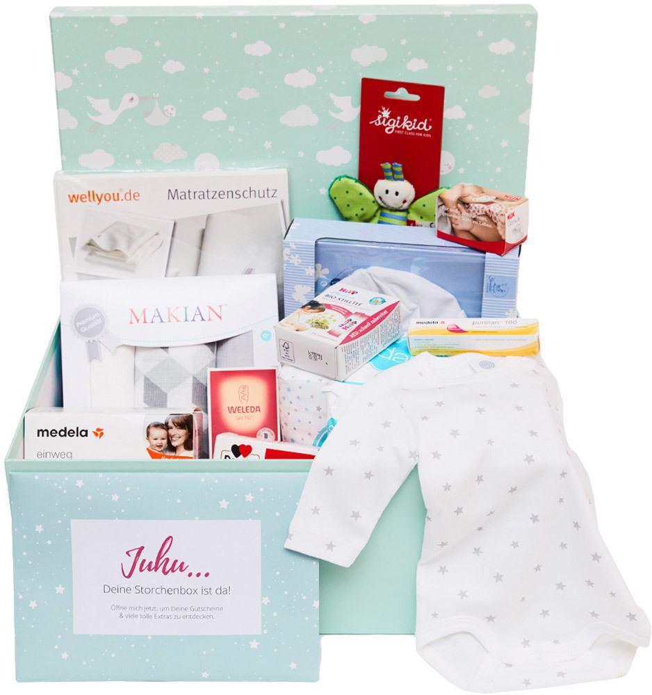Storchenbox - für 49€ insg. 50€ Gutscheine für Windeln.de sowie viele Produkte für Baby und Mama als kostenlose Beigabe