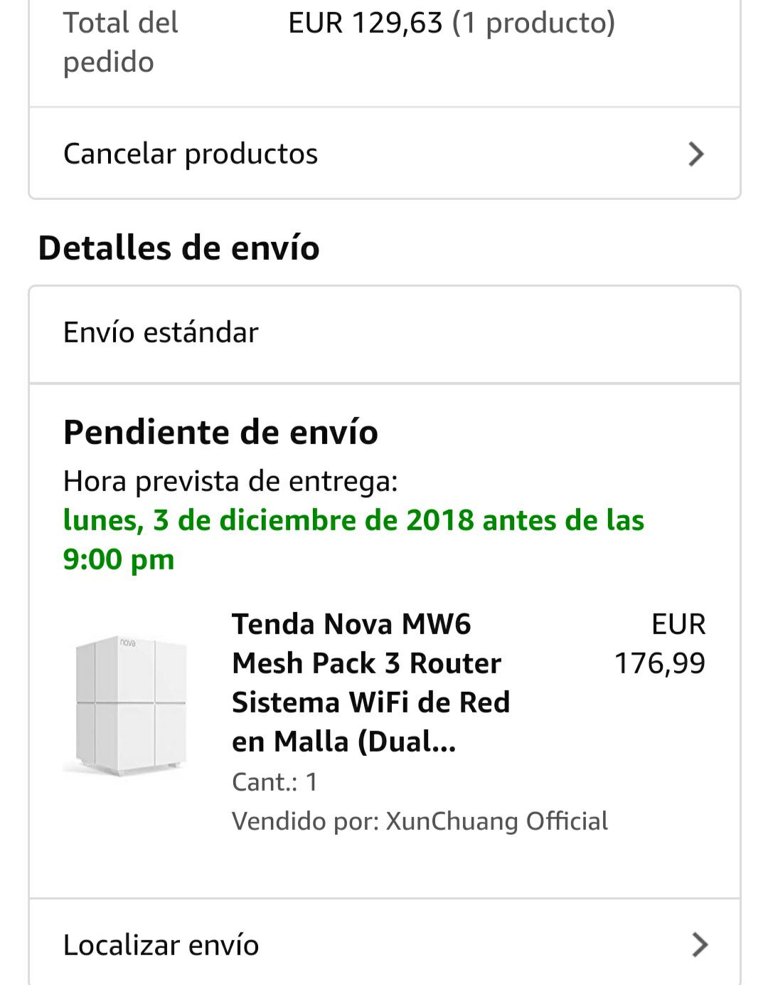 [Amazon.es] Tenda Nova MW6 3er Set Mesh System
