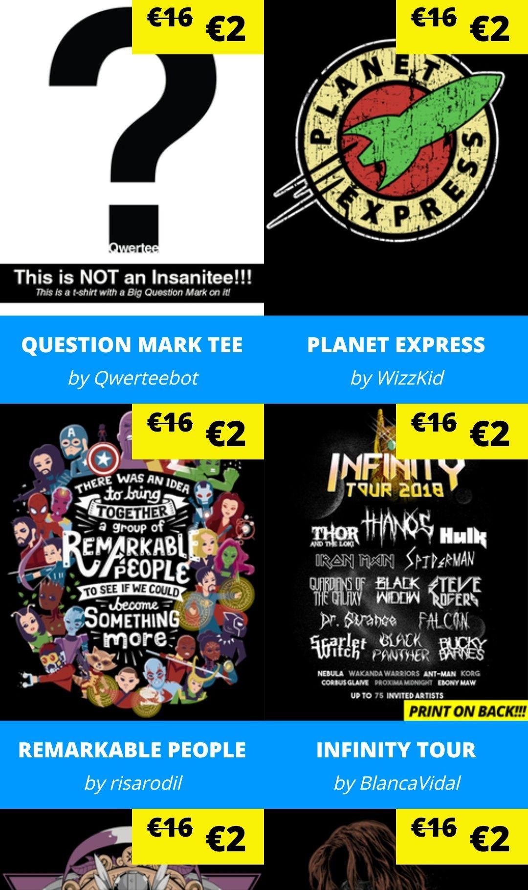 [Qwertee] Cyber Monday Sale / T-Shirts ab 2 € + 3 € Versand bei einem Shirt / Ab 6 Stück gibts keine VSK und Weihnachtssocken dazu
