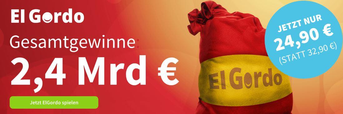 [Bestandskunden] lottohelden.de - 1/10 El Gordo (24,90€ anstatt 32,90€) - 25% Rabatt