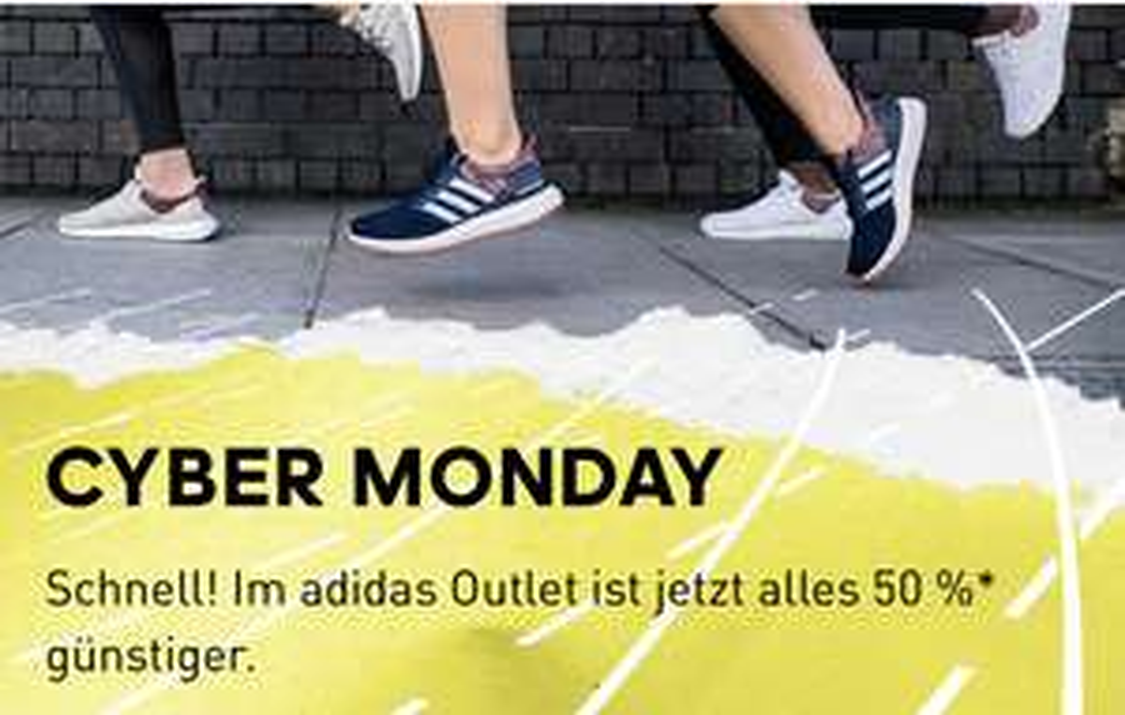 50% auf alles im Adidas Outlet am Cyber Monday