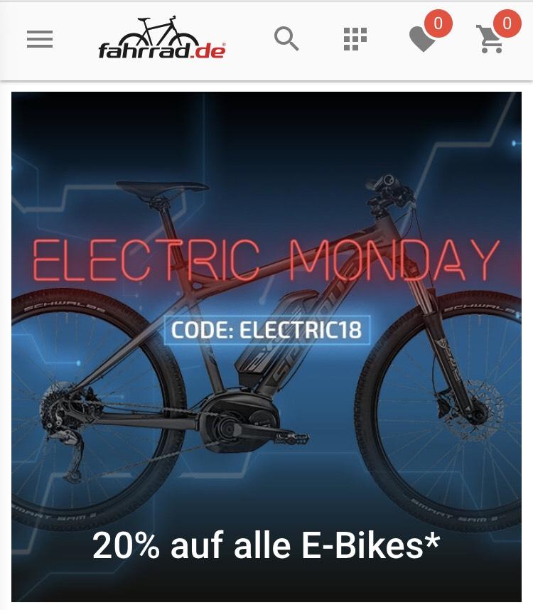 20% auf alle E-Bikes