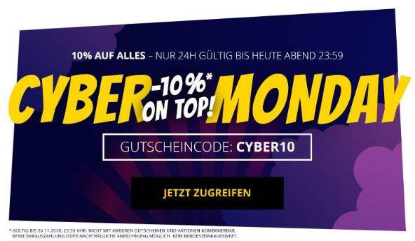10% Rabatt auf alles bei SportSpar zum Cyber Montag