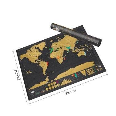 Rubbel-Weltkarte für 1,99€