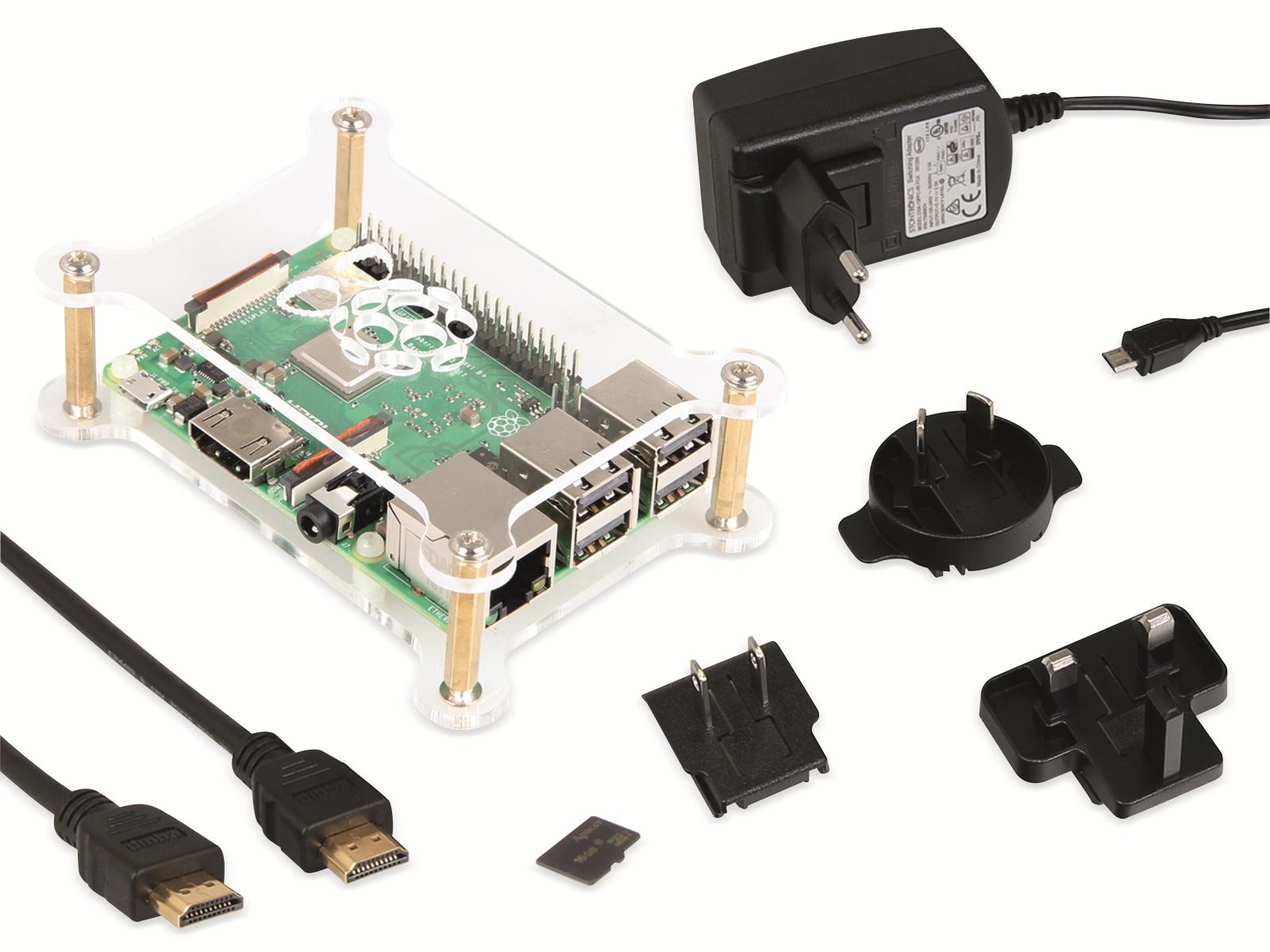 Raspberry Pi 3 Modell B+ Starter-Set (inkl. microSD, Netzteil, Gehäuse, HDMI-Kabel) für 49,98€ [Pollin]