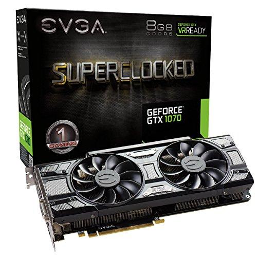 EVGA GeForce GTX 1070 SC Gaming ACX 3.0 Black Edition 8GB für 324,52€ (Amazon.com)