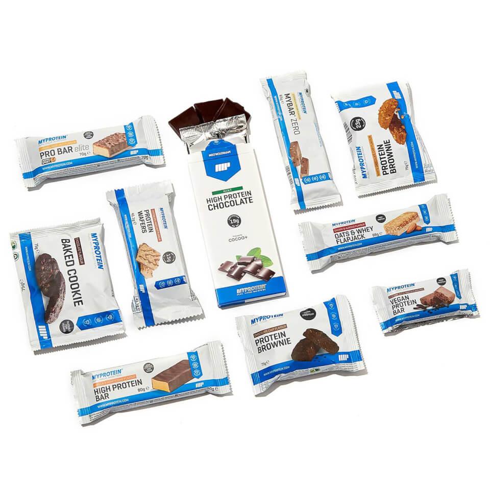 Myprotein Protein Snack Box (10 verschiedene Produkte) für 14,99€ + gratis Versand