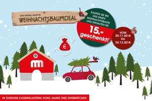 m bel martin weihnachtsbaum nordmanntanne mit 15 gutschein offline ensdorf kaiserslautern. Black Bedroom Furniture Sets. Home Design Ideas