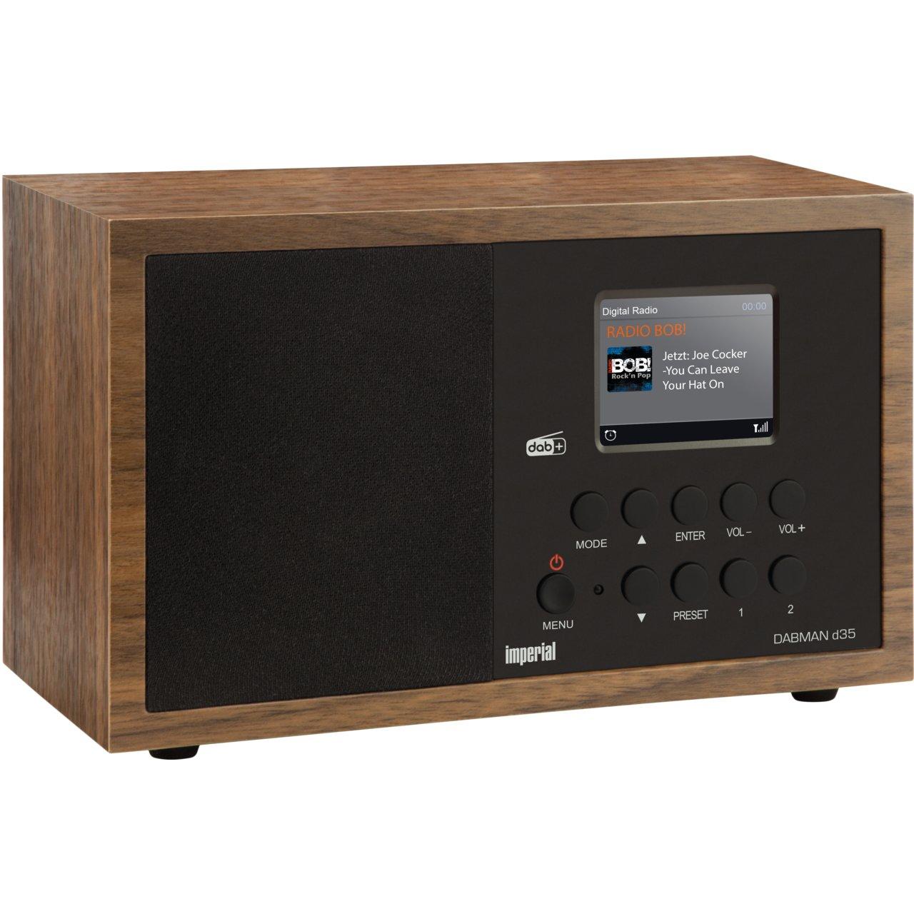 Digitalradios im Angebot: z.B. Imperial DABMAN d35 (DAB+ & UKW, Farbdisplay, Wecker, 5W)