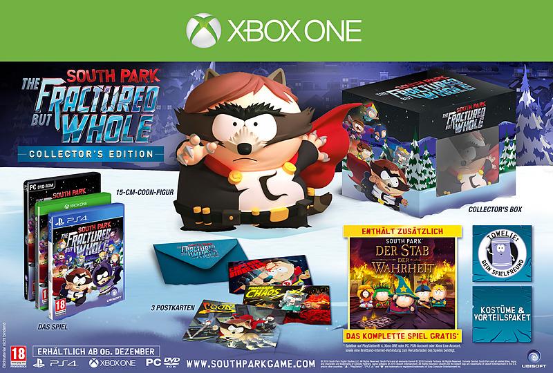 South Park: Die rektakuläre Zerreißprobe Collector's Edition (Xbox One) für 38,90€ (Gameware)