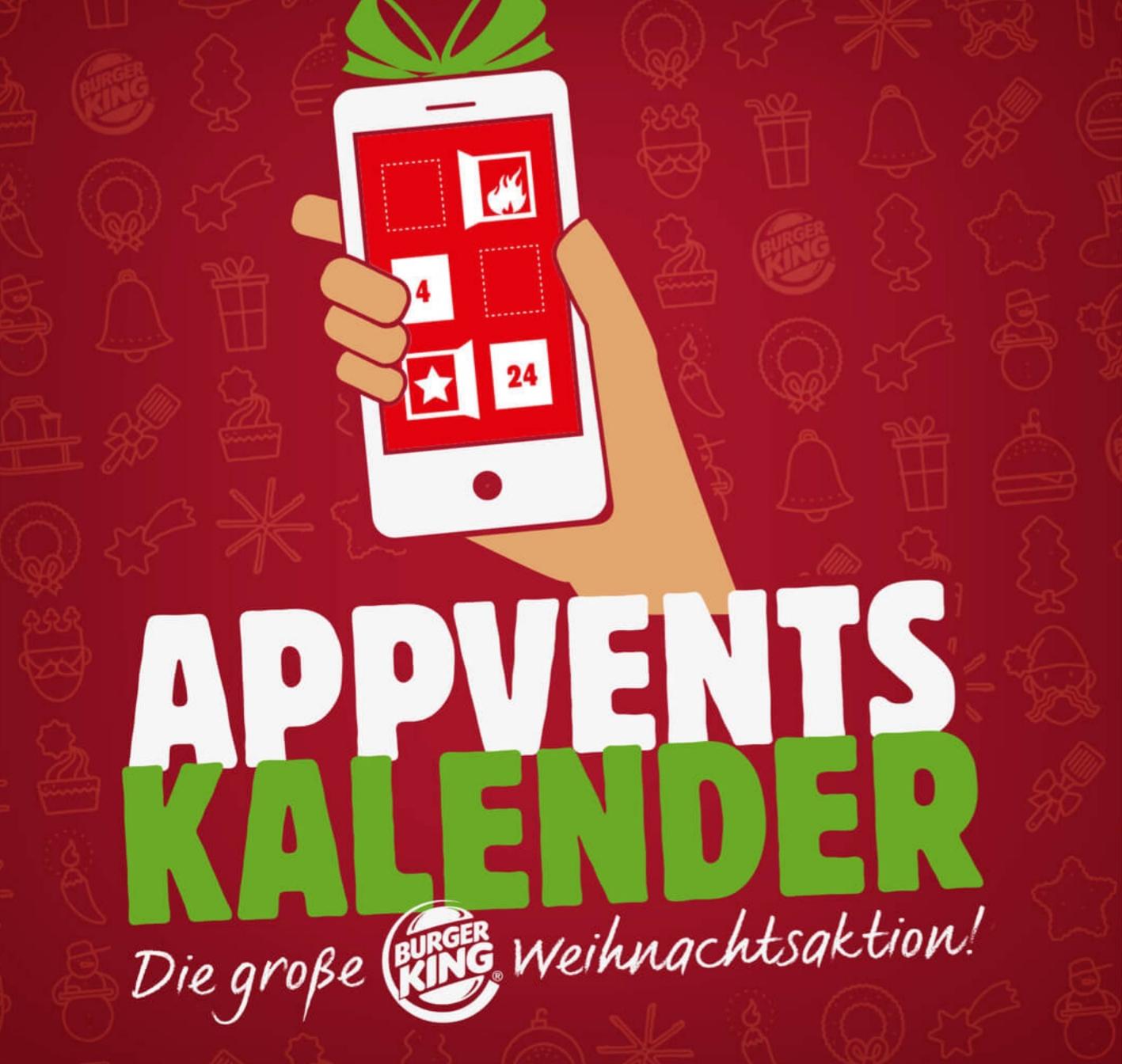 Burger King Adventskalender jeden Tag ein Angebot / Heute: King Sundae 0,79€ /Komplette Liste geleakt