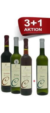 3+1 Weinpaket für nur 13,70 € - Winzer der Rheinhessischen Schweiz - exklusiv bei wirwinzer.de