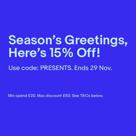 15% eBay UK Gutschein für viele Kategorien (max. £50)