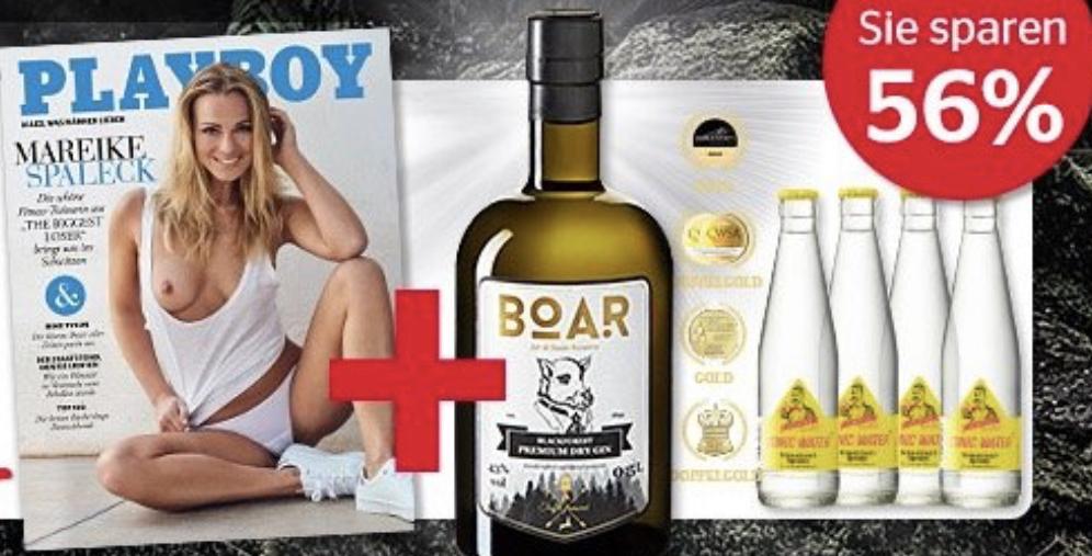 Saufen und Glotzen. Playboy Abo + Gin Tonic Paket