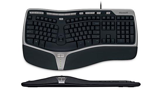 Microsoft Natural Ergnomic Keyboard 4000 (Deutsch) USB für 31,81 bei Amazon