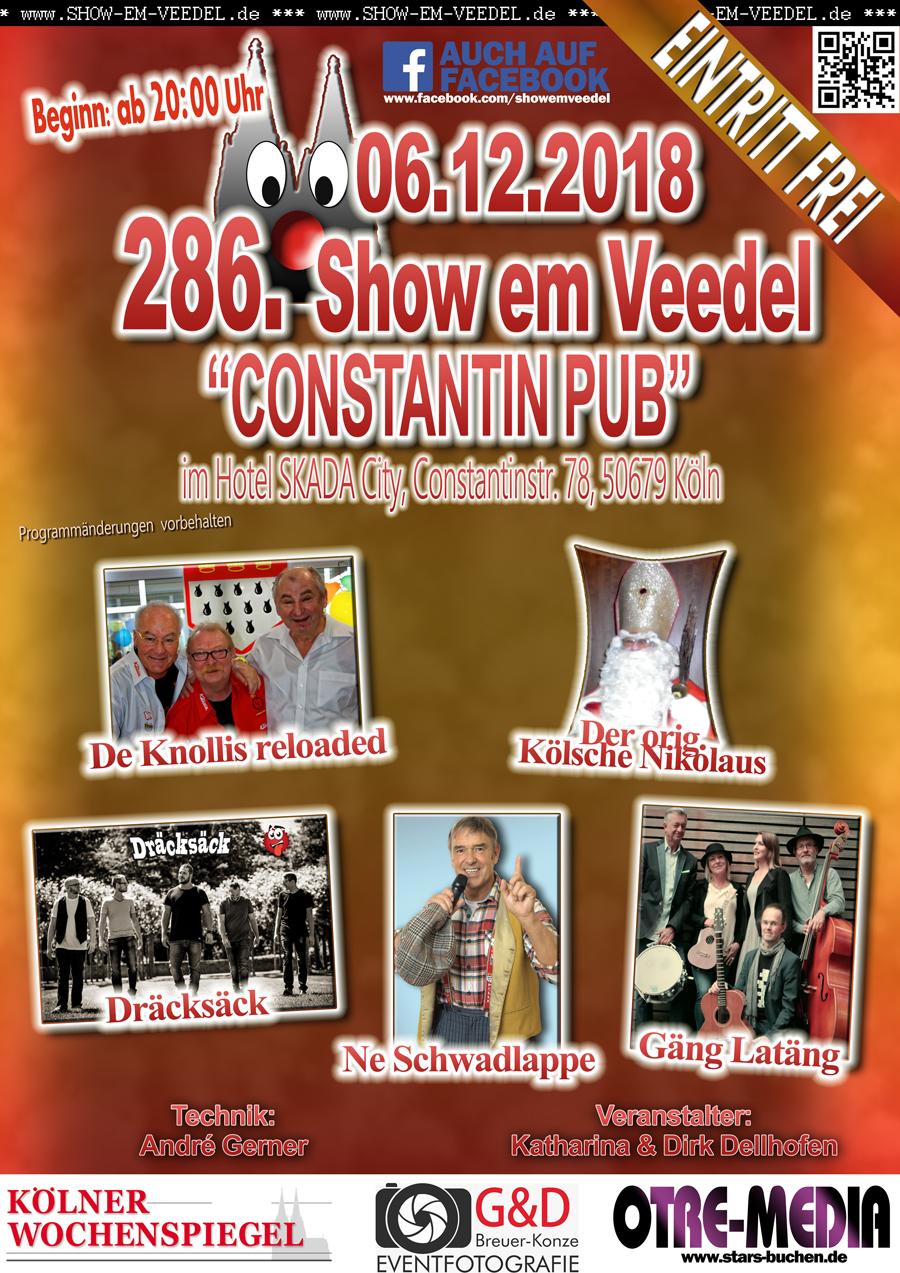 Köln - 286. Show em Veedel - 6.12.2018 - 20 Uhr - Eintritt frei