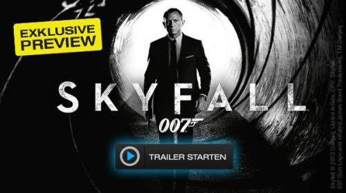 Bei Maxdome: 007 SKYFALL Preview gratis (5 Minuten)