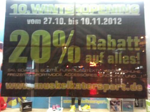 [lokal Köln] 20% Rabatt bei Muskelkatersport