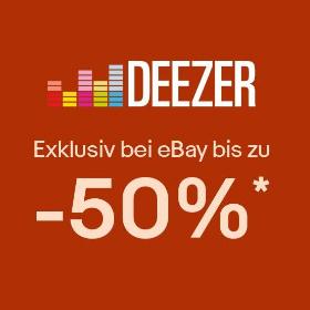 [eBay] Bis zu 50% Rabatt auf Deezer Premium - 12 Monate für 60€, 6 für 35€ & 4 für 24€ (Neukunden)