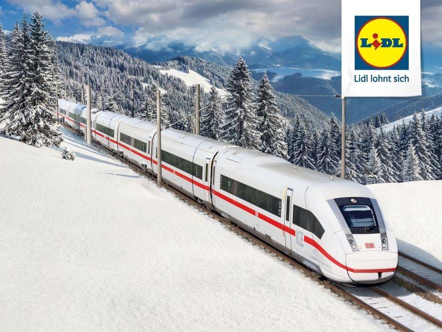 Lidl-Ticket: 2 Fahrten 2. Klasse für 54,90 € mit der Deutschen Bahn