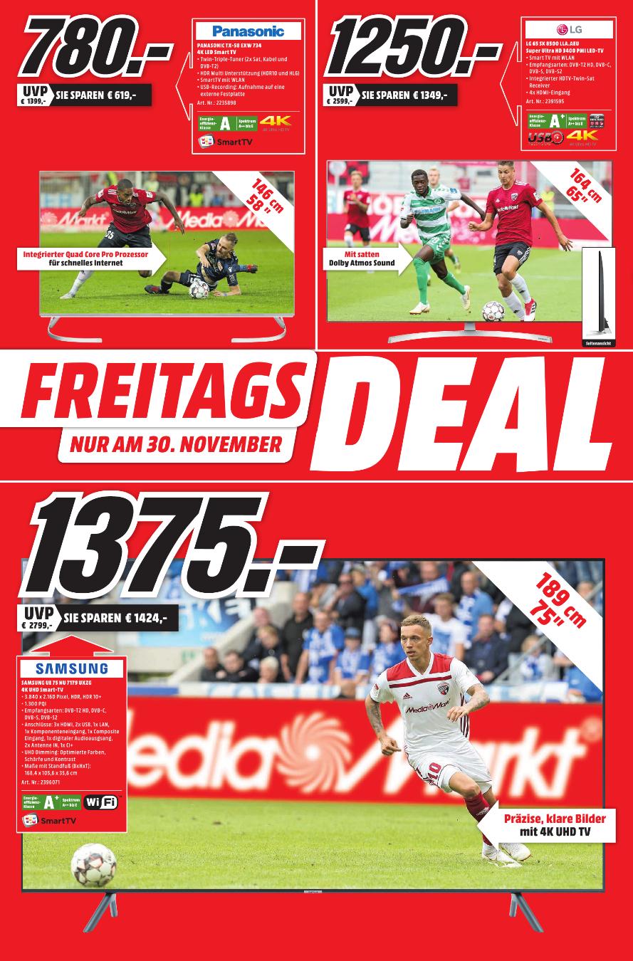 [Lokal Duisburg] Freitagsdeal: LG 65SK8500 für 1250€, JBL Flip 3 für 57€, SONY KD-60XF8305 für 855€, Philips HD8829/01 für 249€, uvm.