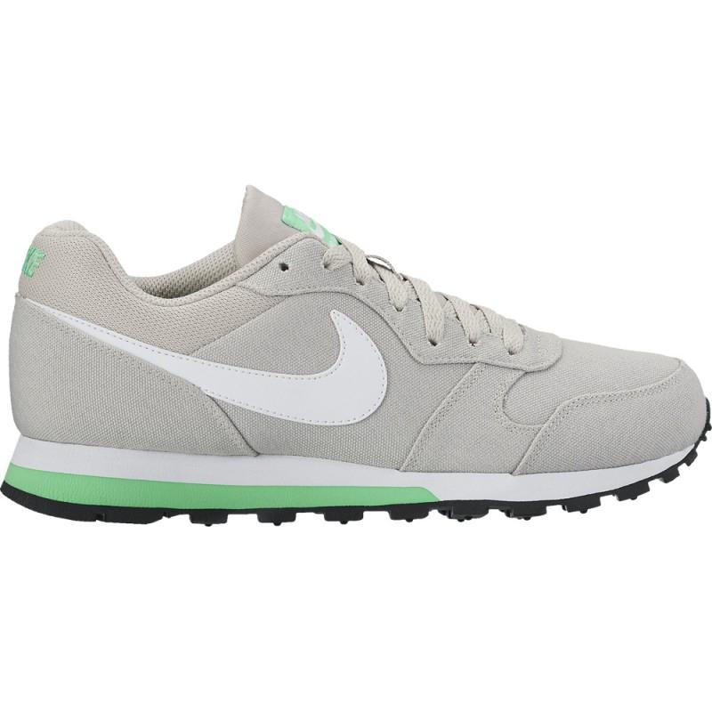 Nike Damen Sneaker MD Runner 2 Pale Grey/White-Electro Green Größe 38, mit Füllartikel für nur 30,88€