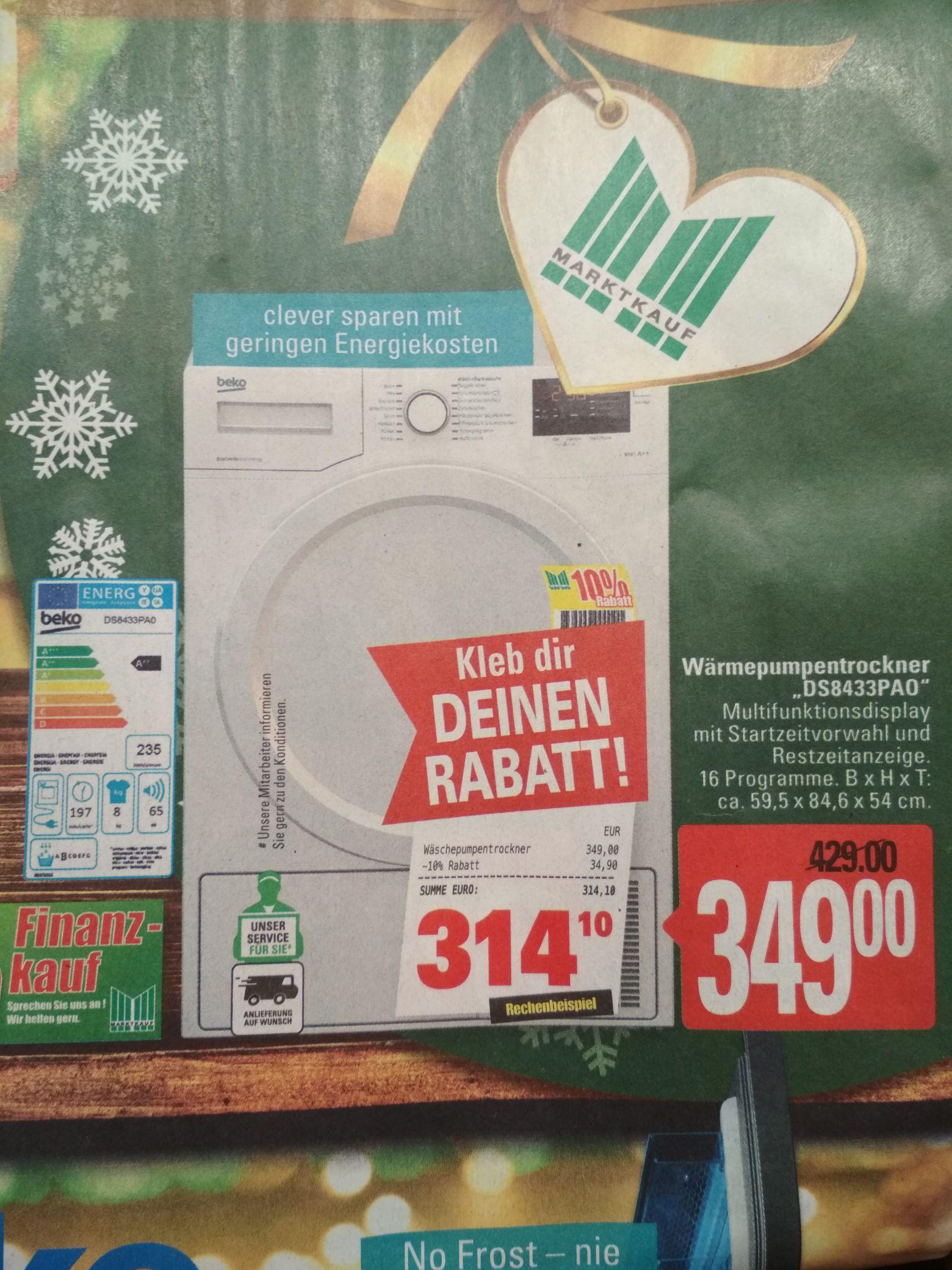 Beko Wärmepumpentrockner DS8433PAO A++, 235kwh [Marktkauf Burg]