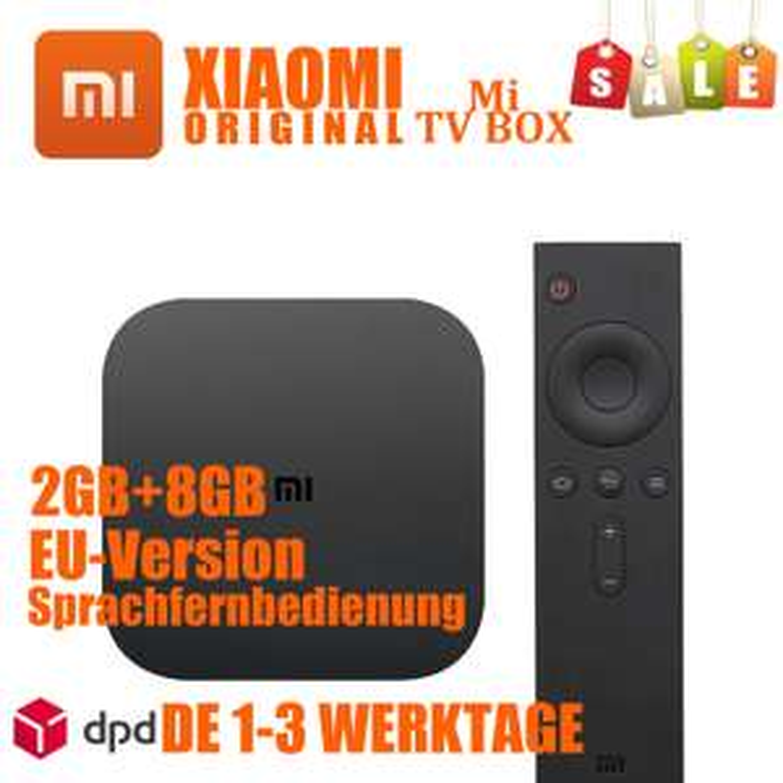 [xiaomigermanystore] Xiaomi Mi TV Box 4K (2GB RAM, 8GB eMMC, Android, Mali 450, 4K@60Hz, 802.11ac, HDMI2.0a) Versand aus Bremen - EU-Version