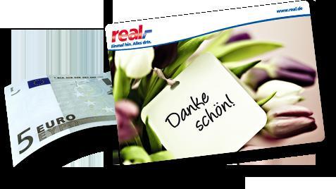 Real-Onlineshop: Kostenlose Lieferung in den Markt +5€ Gutschein für den nächsten Einkauf MBW 30€