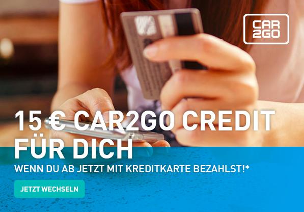 15€ Car2Go Guthaben kostenfrei für Bestandskunden durch Umstellung auf KK - [Freebie]