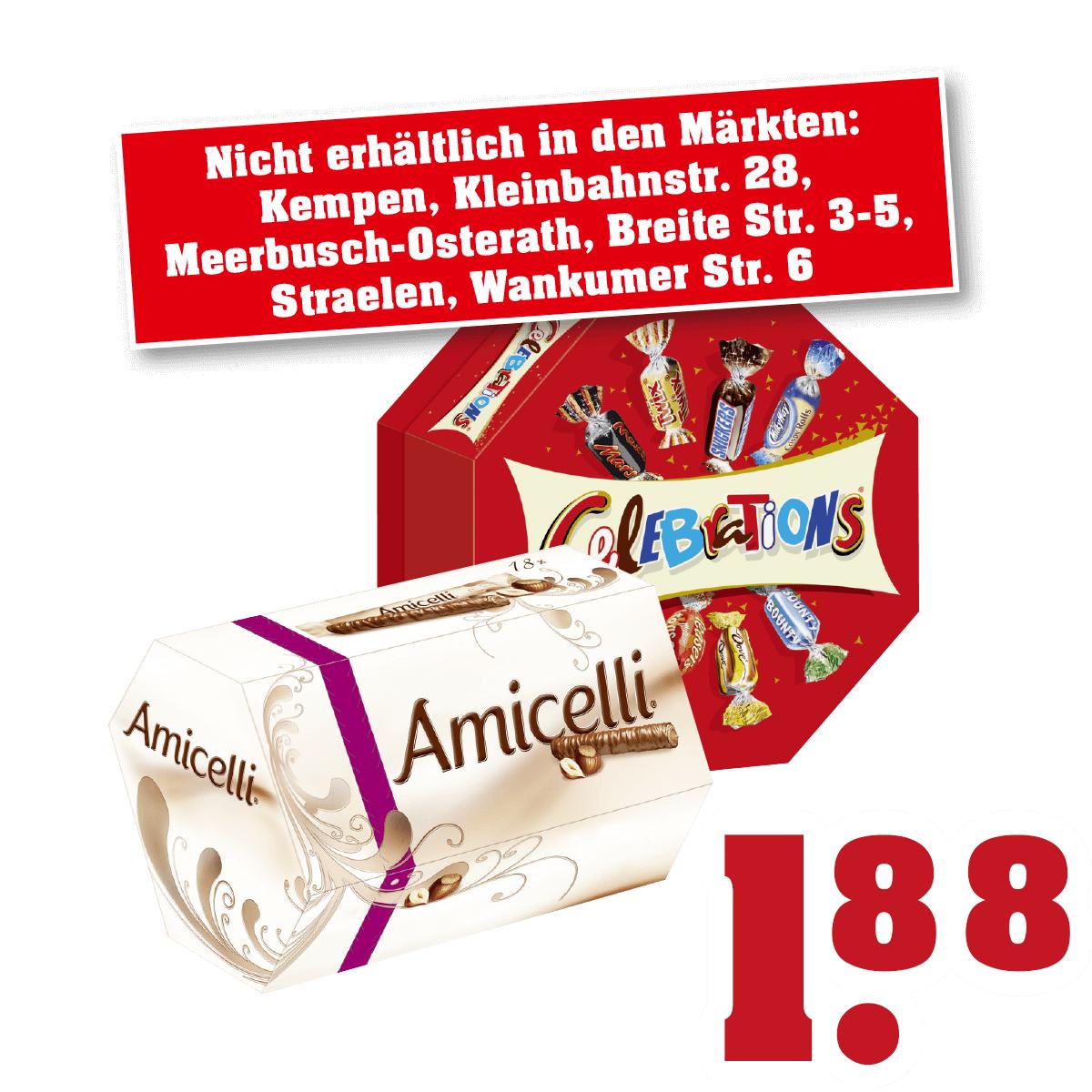 [Offline / Trinkgut] Amicelli / Celebrations für 1,88 €