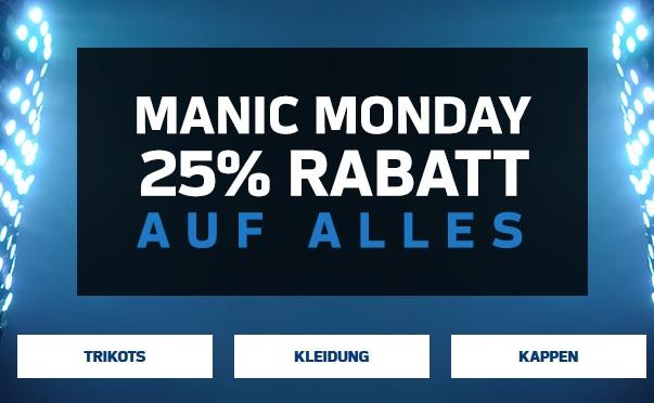 "Manic Monday ""Week(?)"". NFL-Shop Europe 25% auf Alles."