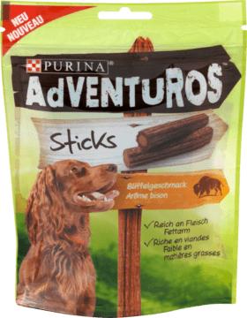DM online  Adventuros Snack für Hunde, Sticks mit Büffel, 120 g