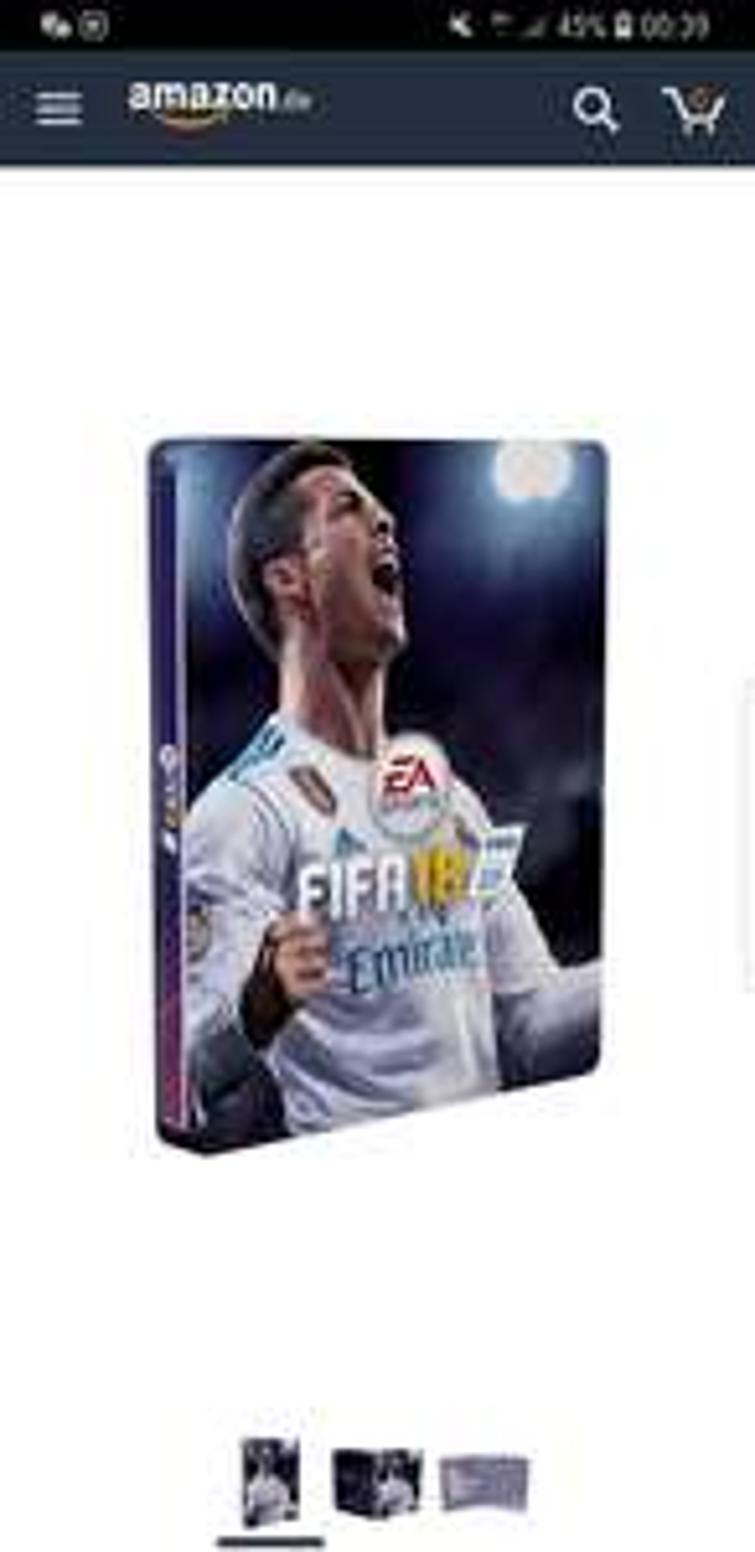 Fifa 18 Steelbook bei Amazon für 2.64 € für Sammler