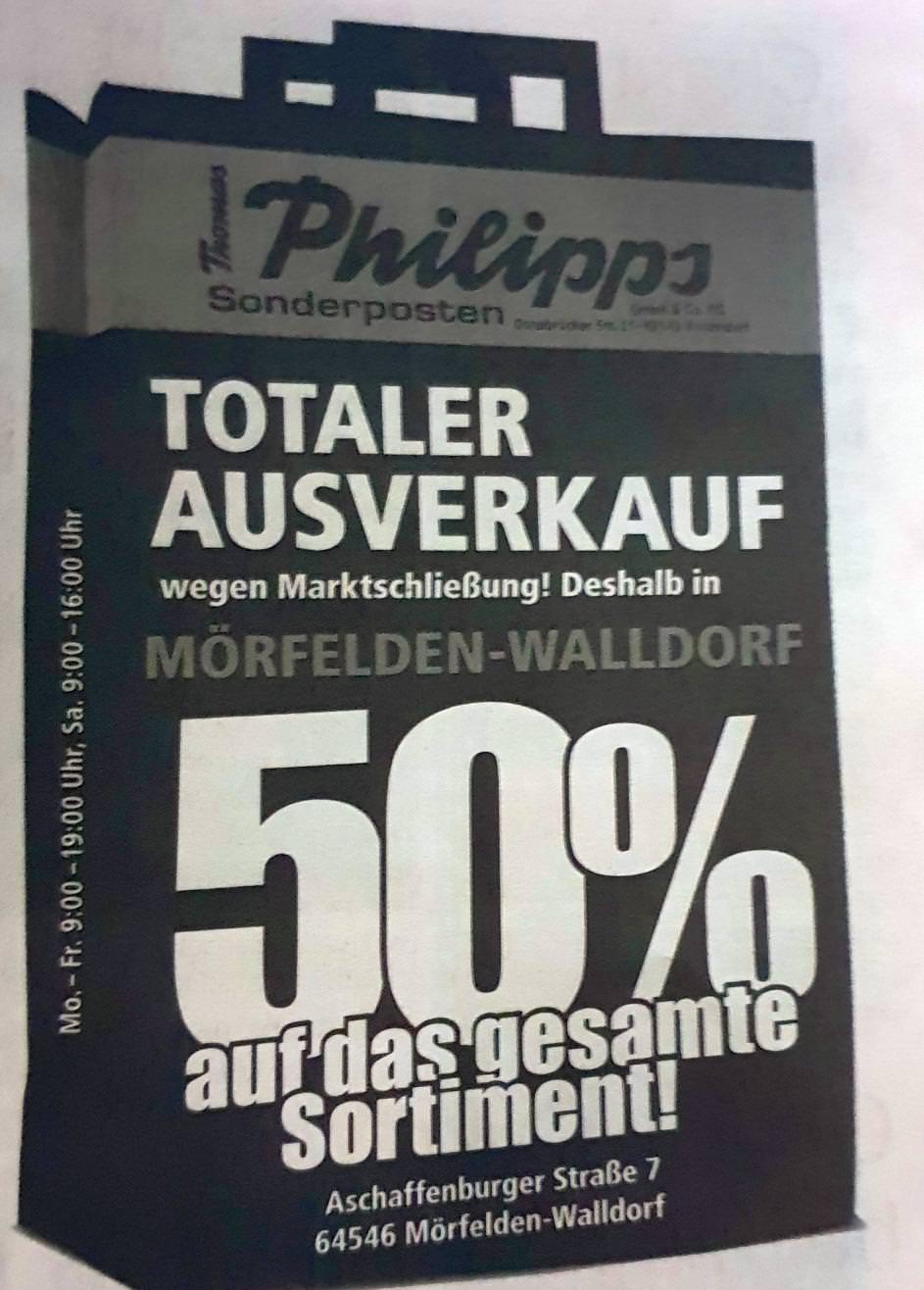 [64546] 50% auf Alles bei Thomas Philipps wegen Schließung des Marktes