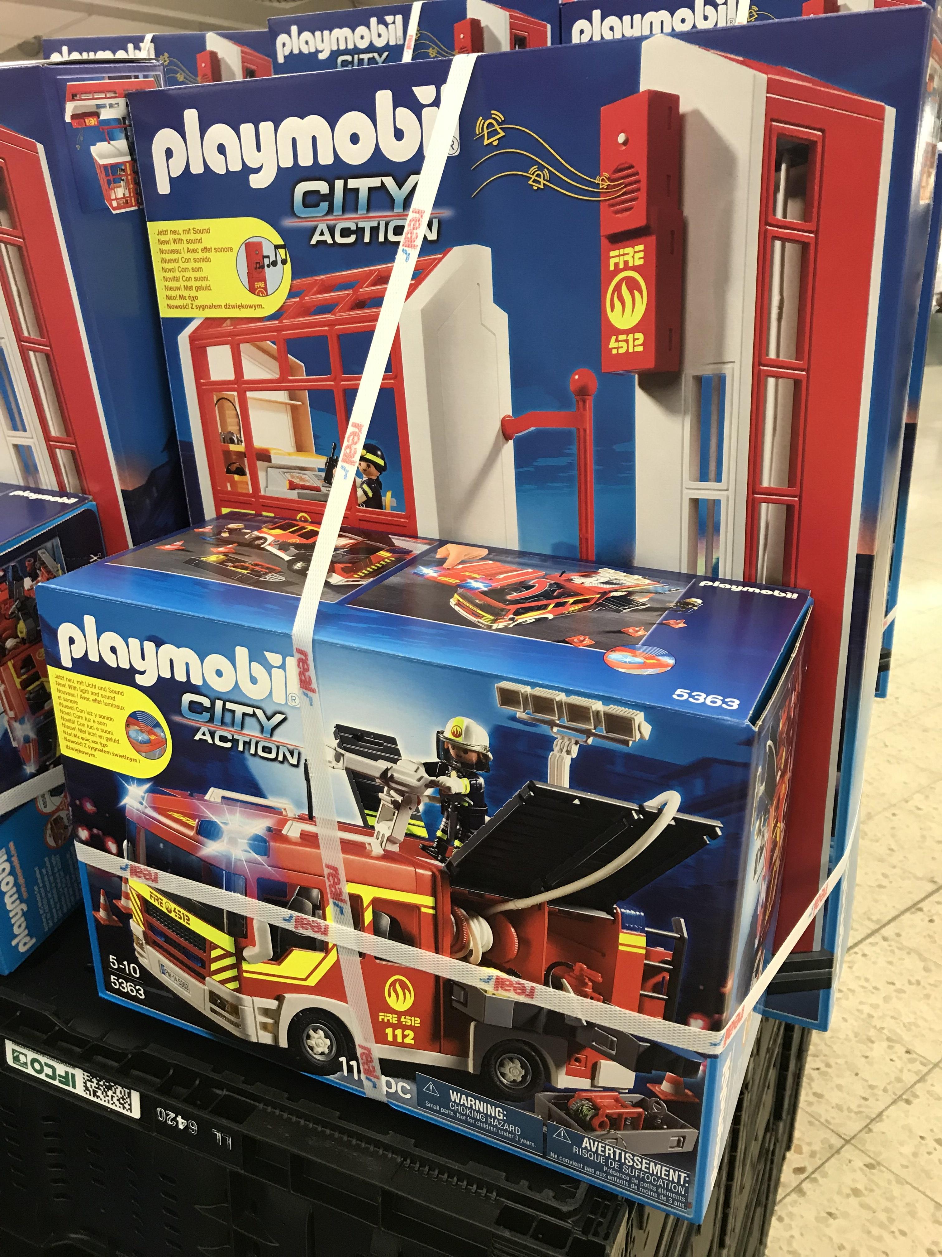 Lokal Ansbach Real Playmobil Feuerwehrhaus Und Feuerwehrauto 5361