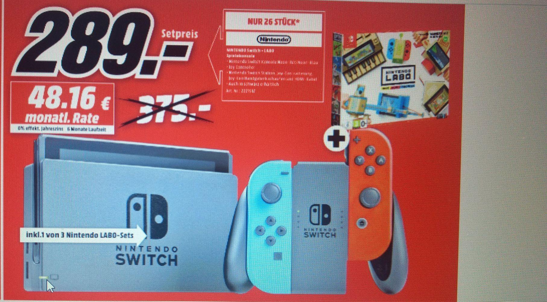 Nintendo Switch Neon Rotneon Blau Nintendo Labo Lokal Mediamarkt