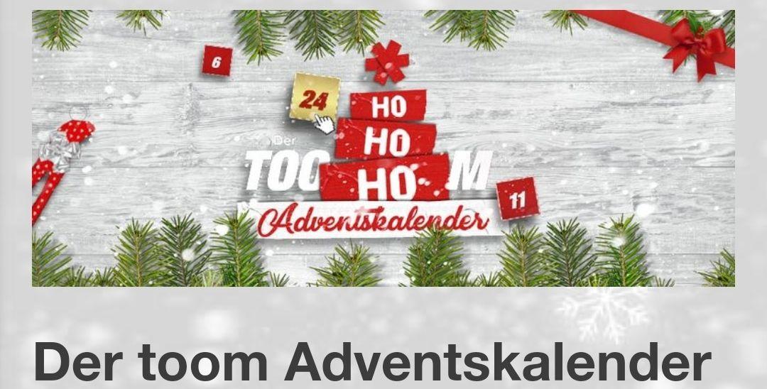 [Toom Adventskalender] 10€ Gutschein (60€mew)
