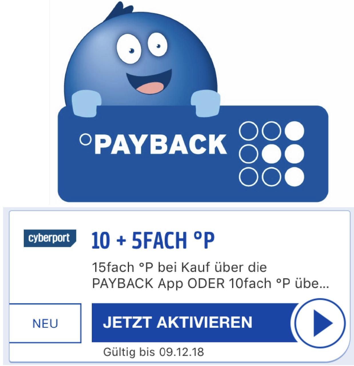 Cyperport 15-fache Payback Punkte 10 + 5-fach über die Payback App - Entspricht 7,5% Ersparnis!