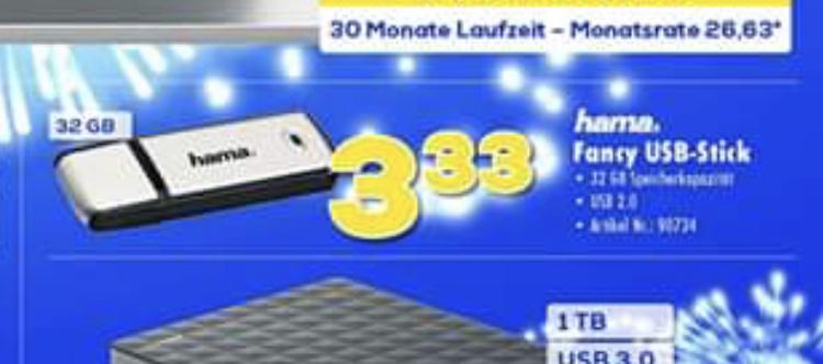 Hama USB-Stick 32GB [lokal bei allen Euronics Berlet Geschäften]