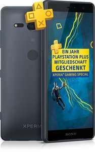 congstar Allnet Flat LTE 50 (3 GB) (Neuvertrag) mit Sony Xperia XZ2 Compact Dual-SIM in schwarz und einem Dualshock4 Controller