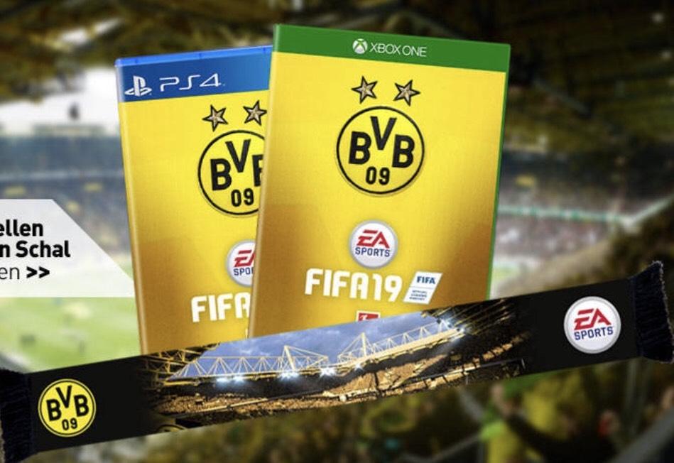 [BVB Shop] FIFA 19 in der BVB Edition + Schal + original signierte Autogrammkarten (PS4 Xboxone)