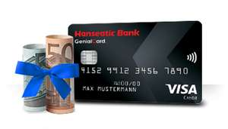 55 € Bonus für die Hanseatic Bank GenialCard Kreditkarte