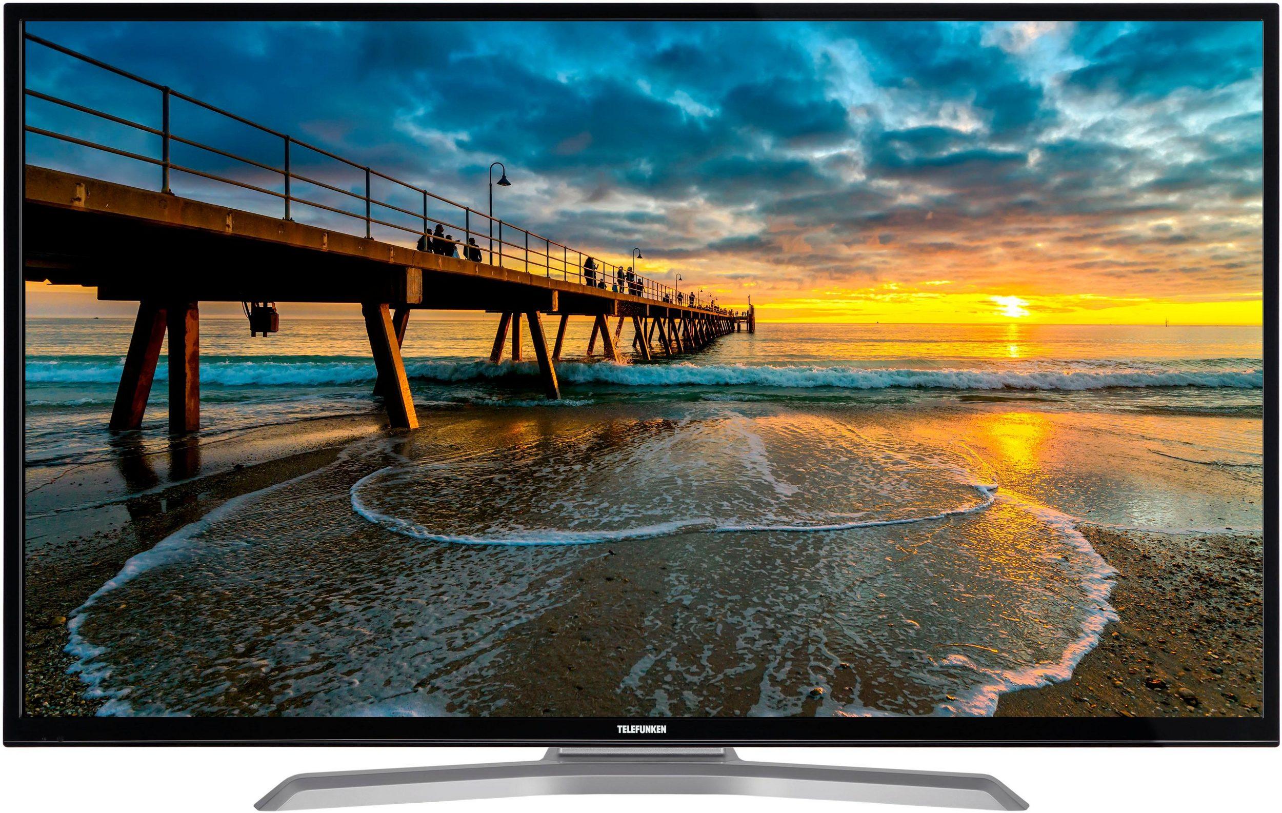 Telefunken D55U700M4CWH - 55 Zoll 4K TV mit HDR, DolbyVision, Hbb, AmazonPrime, Netflix, Triple Tuner, USB Recording