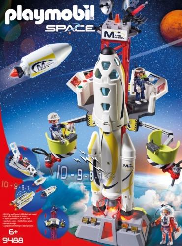PLAYMOBIL® SPACE 9488 Mars-Rakete mit Startrampe